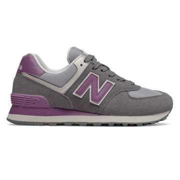 New Balance 574, Castlerock with Kite Purple