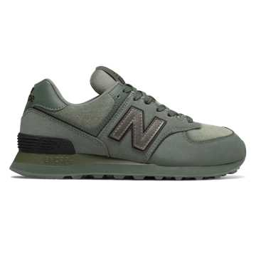 New Balance 574, Slate Green with Black