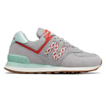 New Balance 574, Rain Cloud with Light Reef & Coral Glow