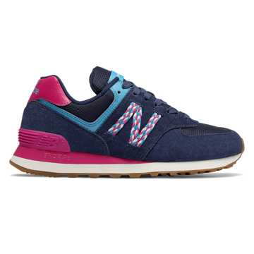 New Balance 574, Techtonic Blue with Carnival & Cobalt Blue