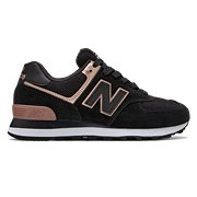 huge discount cca14 58a26 NB 574, Black with Champagne Metallic