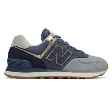 New Balance 574 Metallic Patch, Reflection with Light Gold