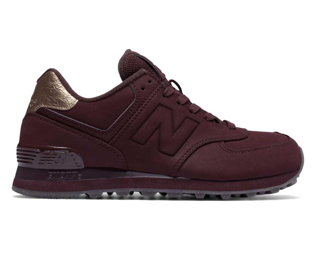 New Balance 574 Molten Metal Supernova Red Women's Lifestyle Shoes