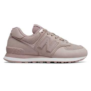 New Balance 574 Nubuck, Au Lait with Champagne Metallic