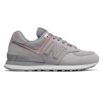 New Balance 574 Nubuck, Arctic Sky with Champagne Metallic