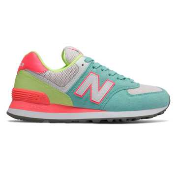 New Balance 574 Summer Sport, Light Tidepool with Pink Mist