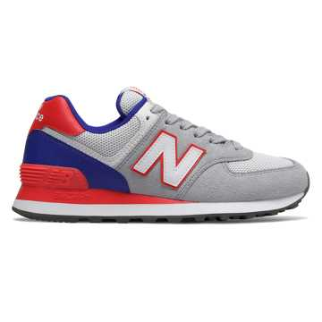 New Balance 574 Summer Sport, Rain Cloud with Energy Red