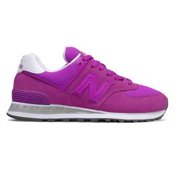 New Balance 574, Voltage Violet with White