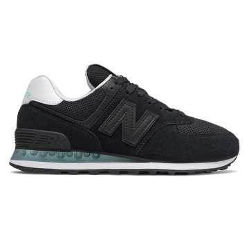 New Balance 574, Black with Light Reef