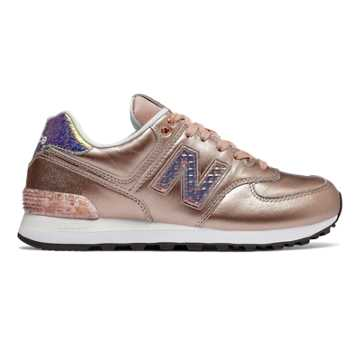 New Balance 574 Glitter Punk, Metallic Gold