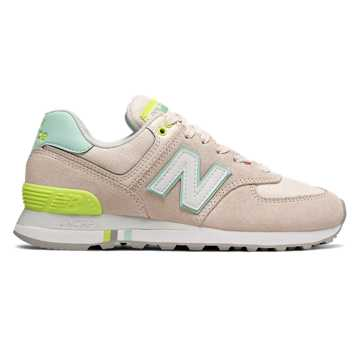 New Balance 574 Summer Shore, Pink Mist with Light Reef