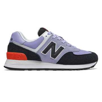 New Balance 574, Clear Amethyst with Black