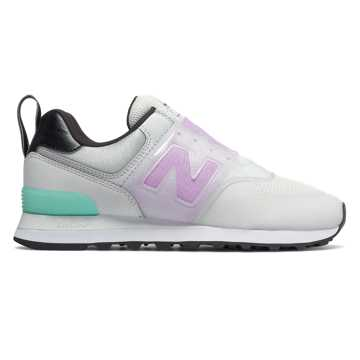 New Balance 574 Slip On, Nimbus Cloud with Violet Glo