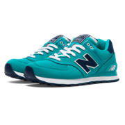 NB 574 Pique Polo Pack, Verde Azulado con Navy