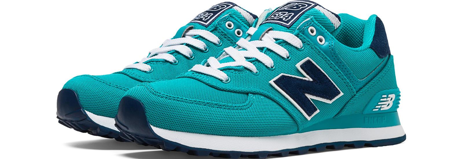New Balance 574 Women Teal/Navy Shoes