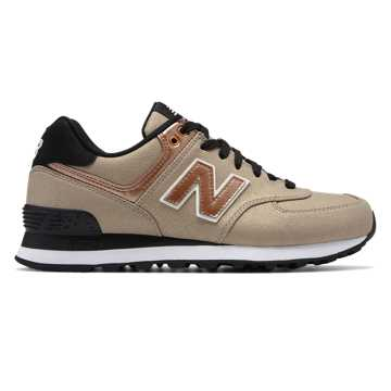 New Balance 574 Seasonal Shimmer, Copper Metallic with Champagne Metallic