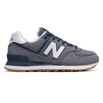 New Balance 574 Gingham, Vintage Indigo with White