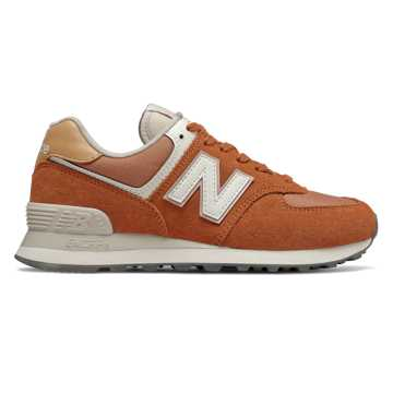 New Balance 574, Dark Amber with Faded Mahogany