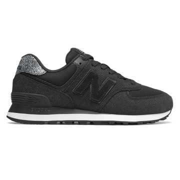 New Balance 574 Pebbled Street, Black with White