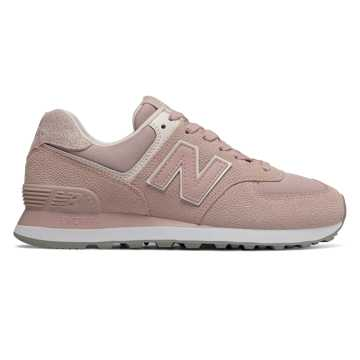 New Balance 574 Pebbled Street, Charm with Pink Mist