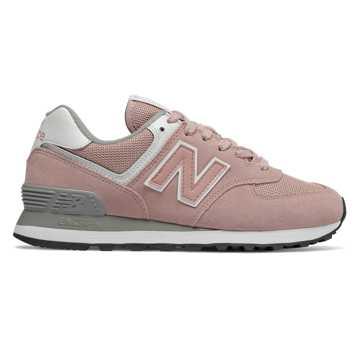New Balance 574系列女款复古休闲运动鞋 经典复古, 粉色