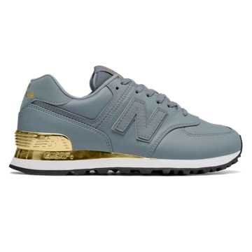 New Balance 574 Gold Dip, Slate with Metallic Gold