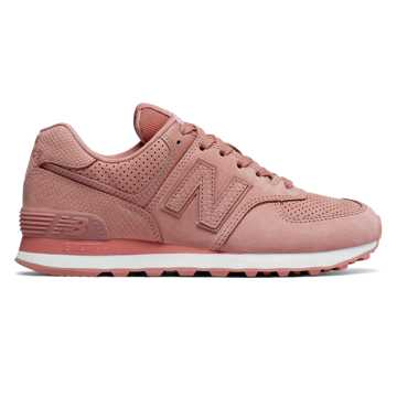 new balance pale pink 574 synthetic trainers