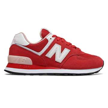 New Balance 574 Valentine's Day, Team Red with Oyster Pink