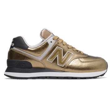 New Balance 574, Gold with Black