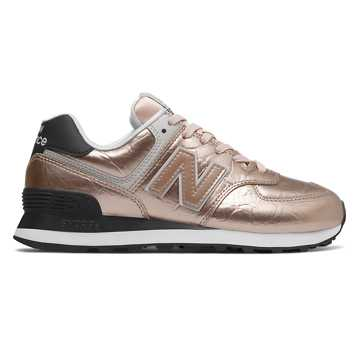 New Balance 574, Rose Gold with Black