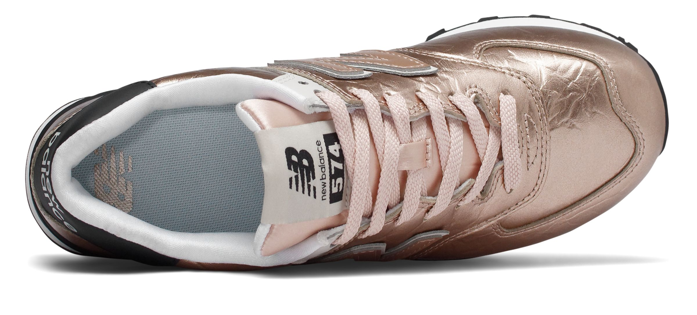 new balance rose gold and black