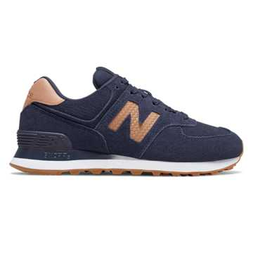 New Balance 574 Woven Logo, Pigment with Veg Tan