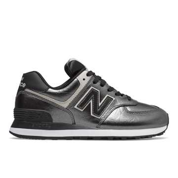 New Balance 574, Black Metallic with Black