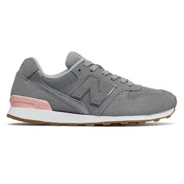 New Balance 696, Steel with Himalayan Pink