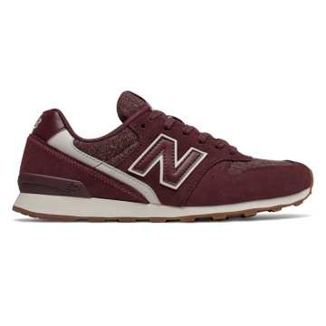 New Balance 696, Burgundy with Sea Salt