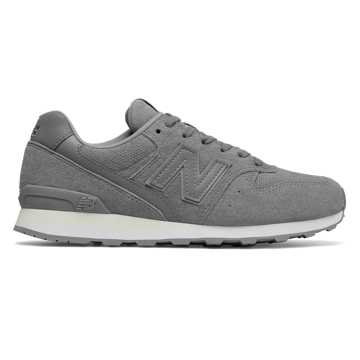 New Balance 696 Suede, Grey with White