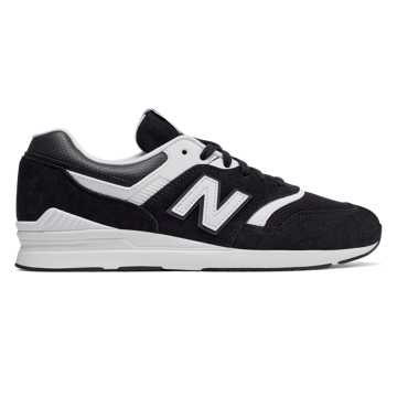 New Balance Leather 697, Black with White