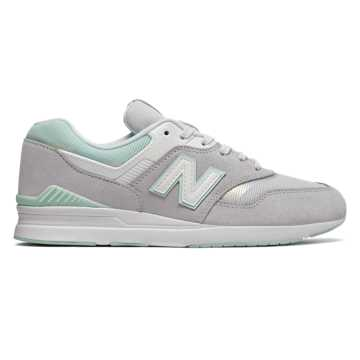 New Balance 697, Silver Mink with Mint