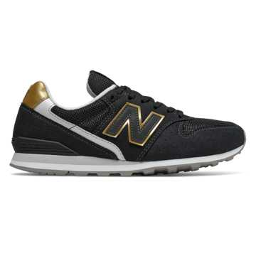 New Balance 996, Black with Classic Gold