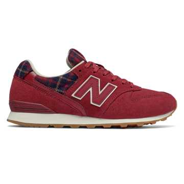 New Balance 996, NB Scarlet with Black