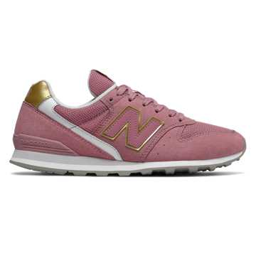 New Balance 996, Pink with Classic Gold