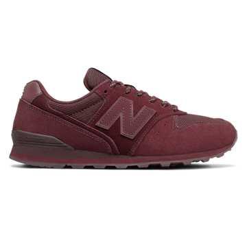 New Balance 996系列女款复古休闲鞋, 酒红色