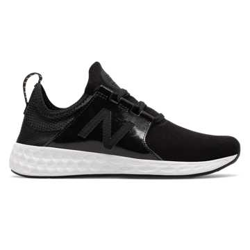 New Balance Womens Fresh Foam Cruz Velvet, Black