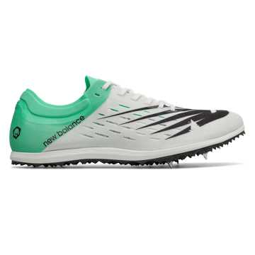 New Balance LD5000v6 Spike, White with Neon Emerald