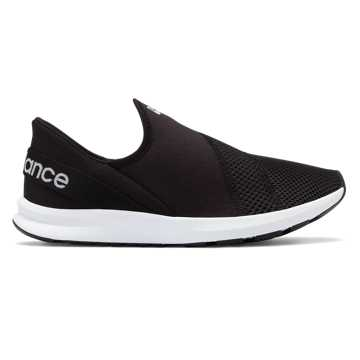 New Balance FuelCore Nergize Easy Slip-On, Black with White