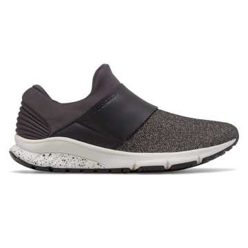 New Balance FuelCore Rush Slip-On, Black with Sea Salt