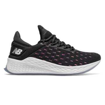 New Balance Fresh Foam Lazr v2 HypoKnit, Black with Peony & White