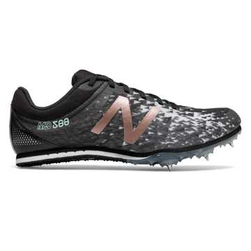 New Balance MD500v5 Spike, Black with Rose Gold