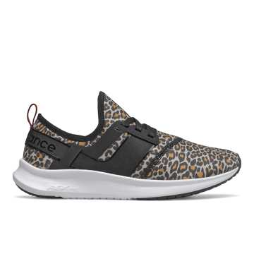 New Balance NB Nergize Sport, Black with Leopard Print
