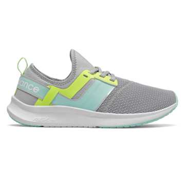 New Balance NB Nergize Sport, Light Aluminum with Bali Blue & Lemon Slush